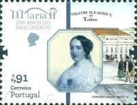 [The 200th Anniversary of the Birth of Queen Maria II of Portugal, 1819-1853, type EMY]