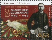 [The 150th Anniversary of the Birth of Calouste Sarkis Gulbenkian, 1869-1955 - Joint Issue with Armenia, type ENF]