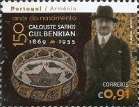 [The 150th Anniversary of the Birth of Calouste Sarkis Gulbenkian, 1869-1955 - Joint Issue with Armenia, type ENG]