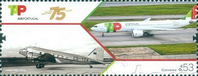 [The 75th Anniversary of TAP - Air Portugal, type ETA]