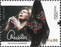 [The 100th Anniversary of the Birth of Amália Rodrigues, 1920-1999, type ETQ]