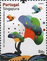 [The 40th Anniversary of Diplomatic Relations with Singapore - Joint Issue with Singapore, type EWT]