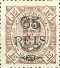 [King Carlos I of Portugal - Stamps of 1894 Surcharged, type D]