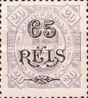 [King Carlos I of Portugal - Stamps of 1894 Surcharged, type D1]