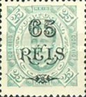 [King Carlos I of Portugal - Stamps of 1894 Surcharged, type D2]