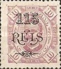 [King Carlos I of Portugal - Stamps of 1894 Surcharged, type D5]