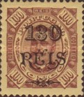 [King Carlos I of Portugal - Stamps of 1894 Surcharged, type D9]