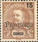 """[King Carlos I of Portugal - Stamps of 1898-1901 Overprinted """"PROVISORIO"""", type E]"""