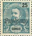 """[King Carlos I of Portugal - Stamps of 1898-1901 Overprinted """"PROVISORIO"""", type E1]"""