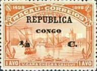 [Vasco da Gama Stamps of Macau Overprinted