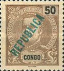 [King Carlos I Stamps of 1898-1903 Overprinted in Green or Red, type O1]