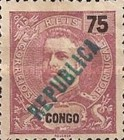 [King Carlos I Stamps of 1898-1903 Overprinted in Green or Red, type O4]
