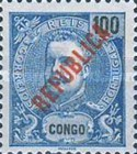 [King Carlos I Stamps of 1898-1903 Overprinted in Green or Red, type O5]