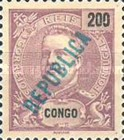 [King Carlos I Stamps of 1898-1903 Overprinted in Green or Red, type O6]