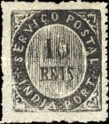 [Numeral Stamps - 33 Vertical Lines in Oval. Thin Transparent Paper, type A]