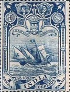 [The 400th Anniversary of Vasco da Gama Arriving to India by Ship, Typ AC]