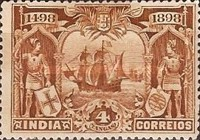 [The 400th Anniversary of Vasco da Gama Arriving to India by Ship, Typ AE]