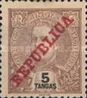 [Issue of 1898-1901 Overprinted in Red, type AN11]