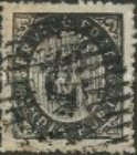 [Numeral Stamps - 44 Vertical Lines in Oval. Thick Paper, Typ B]
