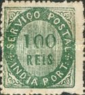 [Numeral Stamps - 44 Vertical Lines in Oval. White Laid Paper, type B11]
