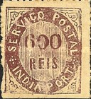 [Numeral Stamps - 44 Vertical Lines in Oval. Thick Paper, Typ B6]