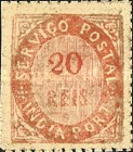 [Numeral Stamps - 44 Vertical Lines in Oval. White Laid Paper, type B9]