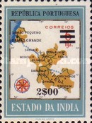 [Map of District Damao Stamps of 1957 Surcharged, Typ DX10]