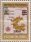 [Map of District Damao Stamps of 1957 Surcharged, Typ DX11]