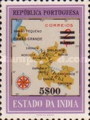 [Map of District Damao Stamps of 1957 Surcharged, Typ DX12]