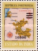 [Map of District Damao Stamps of 1957 Surcharged, Typ DX13]