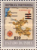 [Map of District Damao Stamps of 1957 Surcharged, Typ DX8]