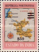 [Map of District Damao Stamps of 1957 Surcharged, Typ DX9]