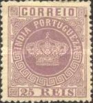 [Portuguese Crown - New Colors. See Also No. 65A-68A, type J18]