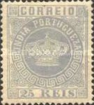 [Portuguese Crown - New Colors. See Also No. 65A-68A, type J19]