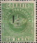[Portuguese Crown Issues Surcharged - Different Perforation, type R20]