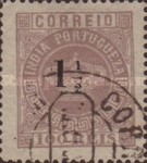 [Portuguese Crown Issues Surcharged - See Also No. 105A-122A, type R4]