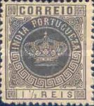 [Portuguese Crown - See Also No. 149A-155A, type T]