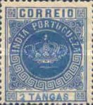 [Portuguese Crown - See Also No. 149A-155A, type T4]