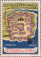 [The 450th Anniversary of Portuguese India Stamps of 1956 Surcharged, Typ XDW1]
