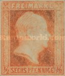 [King Friedrich Wilhelm IV - Hatched Background, Engraved, type A2]