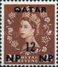[Great Britain Postage Stamps Surcharged, type A4]