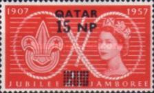 [Great Britain Postage Stamps Surcharged, Typ C]