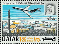 [The 1st Gulf Aviation Vickers VC-10 Flight, Doha to London, type FV]