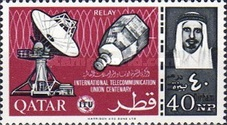 [The 100th Anniversary of ITU Issue of 1965 Surcharged, type R5]