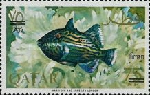 [Fish of the Arabian Gulf - Previous Issues Surcharged, type T3]