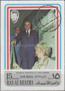 [Airmail - Visit of French President Georges Pompidou in the USA, Typ AAT]