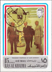 [Airmail - Visit of French President Georges Pompidou in the USA, Typ AAU]