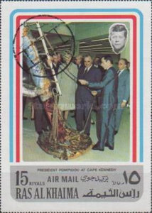 [Airmail - Visit of French President Georges Pompidou in the USA, Typ AAV]