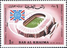 [Airmail - England Champions in Football World Cup 1966 - England, Typ DM]