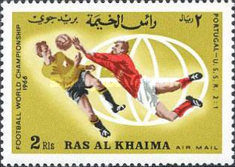 [Airmail - England Champions in Football World Cup 1966 - England, Typ DN]